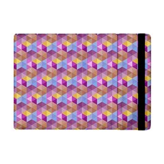 Hexagon Cube Bee Cell Pink Pattern Apple Ipad Mini Flip Case