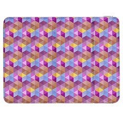 Hexagon Cube Bee Cell Pink Pattern Samsung Galaxy Tab 7  P1000 Flip Case