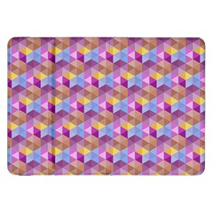 Hexagon Cube Bee Cell Pink Pattern Samsung Galaxy Tab 8 9  P7300 Flip Case