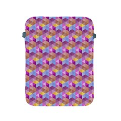 Hexagon Cube Bee Cell Pink Pattern Apple Ipad 2/3/4 Protective Soft Cases