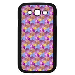 Hexagon Cube Bee Cell Pink Pattern Samsung Galaxy Grand Duos I9082 Case (black) by Cveti