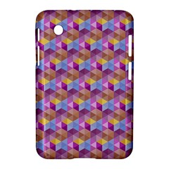 Hexagon Cube Bee Cell Pink Pattern Samsung Galaxy Tab 2 (7 ) P3100 Hardshell Case  by Cveti