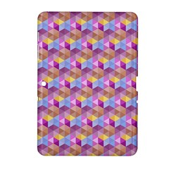 Hexagon Cube Bee Cell Pink Pattern Samsung Galaxy Tab 2 (10 1 ) P5100 Hardshell Case