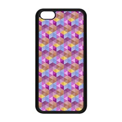 Hexagon Cube Bee Cell Pink Pattern Apple Iphone 5c Seamless Case (black) by Cveti