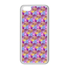 Hexagon Cube Bee Cell Pink Pattern Apple Iphone 5c Seamless Case (white)