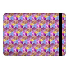Hexagon Cube Bee Cell Pink Pattern Samsung Galaxy Tab Pro 10 1  Flip Case