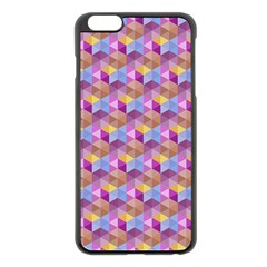 Hexagon Cube Bee Cell Pink Pattern Apple Iphone 6 Plus/6s Plus Black Enamel Case