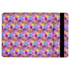 Hexagon Cube Bee Cell Pink Pattern Ipad Air 2 Flip