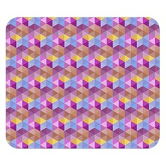 Hexagon Cube Bee Cell Pink Pattern Double Sided Flano Blanket (small)
