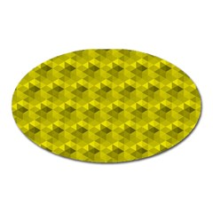 Hexagon Cube Bee Cell  Lemon Pattern Oval Magnet