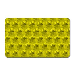 Hexagon Cube Bee Cell  Lemon Pattern Magnet (rectangular)