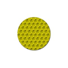 Hexagon Cube Bee Cell  Lemon Pattern Golf Ball Marker (4 Pack)