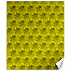 Hexagon Cube Bee Cell  Lemon Pattern Canvas 8  X 10