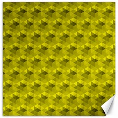 Hexagon Cube Bee Cell  Lemon Pattern Canvas 12  X 12   by Cveti