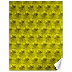 Hexagon Cube Bee Cell  Lemon Pattern Canvas 12  X 16