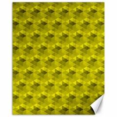 Hexagon Cube Bee Cell  Lemon Pattern Canvas 16  X 20