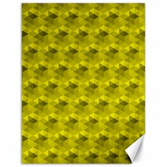 Hexagon Cube Bee Cell  Lemon Pattern Canvas 18  X 24