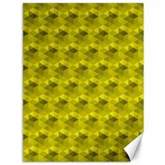 Hexagon Cube Bee Cell  Lemon Pattern Canvas 36  X 48