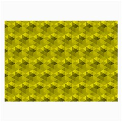 Hexagon Cube Bee Cell  Lemon Pattern Large Glasses Cloth