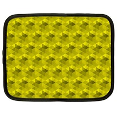 Hexagon Cube Bee Cell  Lemon Pattern Netbook Case (large)