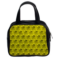 Hexagon Cube Bee Cell  Lemon Pattern Classic Handbags (2 Sides)