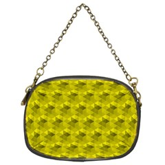 Hexagon Cube Bee Cell  Lemon Pattern Chain Purses (two Sides)