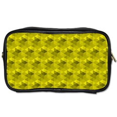 Hexagon Cube Bee Cell  Lemon Pattern Toiletries Bags 2 Side