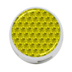 Hexagon Cube Bee Cell  Lemon Pattern 4 Port Usb Hub (one Side)
