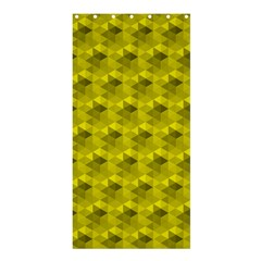 Hexagon Cube Bee Cell  Lemon Pattern Shower Curtain 36  X 72  (stall)