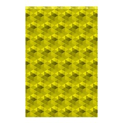 Hexagon Cube Bee Cell  Lemon Pattern Shower Curtain 48  X 72  (small)