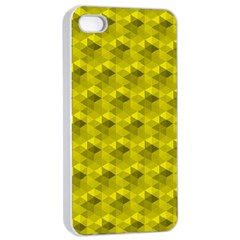 Hexagon Cube Bee Cell  Lemon Pattern Apple Iphone 4/4s Seamless Case (white)