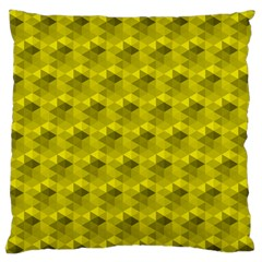 Hexagon Cube Bee Cell  Lemon Pattern Large Cushion Case (two Sides)