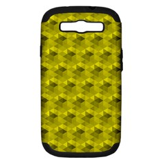 Hexagon Cube Bee Cell  Lemon Pattern Samsung Galaxy S Iii Hardshell Case (pc+silicone)