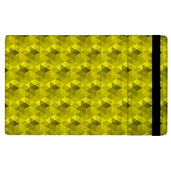 Hexagon Cube Bee Cell  Lemon Pattern Apple Ipad 2 Flip Case