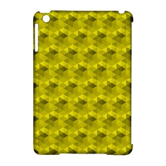 Hexagon Cube Bee Cell  Lemon Pattern Apple Ipad Mini Hardshell Case (compatible With Smart Cover)