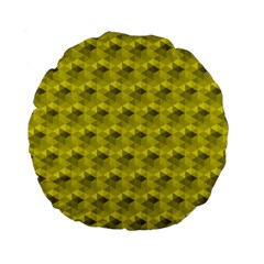 Hexagon Cube Bee Cell  Lemon Pattern Standard 15  Premium Flano Round Cushions