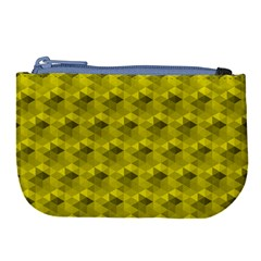 Hexagon Cube Bee Cell  Lemon Pattern Large Coin Purse