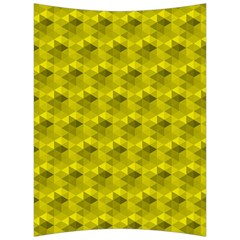 Hexagon Cube Bee Cell  Lemon Pattern Back Support Cushion by Cveti