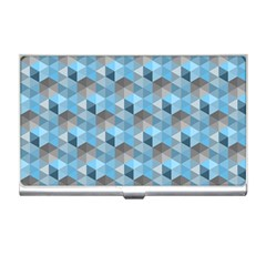 Hexagon Cube Bee Cell  Blue Pattern Business Card Holders by Cveti