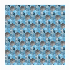 Hexagon Cube Bee Cell  Blue Pattern Medium Glasses Cloth