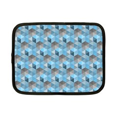 Hexagon Cube Bee Cell  Blue Pattern Netbook Case (small)
