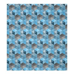 Hexagon Cube Bee Cell  Blue Pattern Shower Curtain 66  X 72  (large)