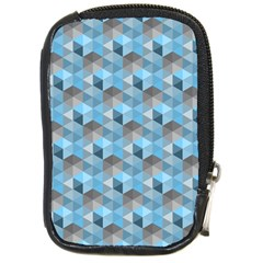 Hexagon Cube Bee Cell  Blue Pattern Compact Camera Cases by Cveti