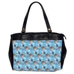 Hexagon Cube Bee Cell  Blue Pattern Office Handbags (2 Sides)  by Cveti