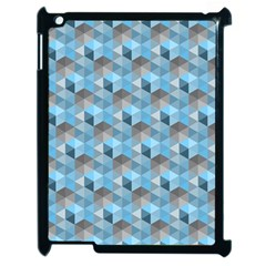 Hexagon Cube Bee Cell  Blue Pattern Apple Ipad 2 Case (black)
