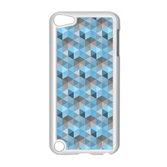 Hexagon Cube Bee Cell  Blue Pattern Apple Ipod Touch 5 Case (white)