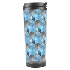 Hexagon Cube Bee Cell  Blue Pattern Travel Tumbler