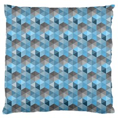 Hexagon Cube Bee Cell  Blue Pattern Large Flano Cushion Case (two Sides) by Cveti