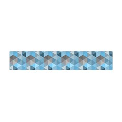 Hexagon Cube Bee Cell  Blue Pattern Flano Scarf (mini) by Cveti