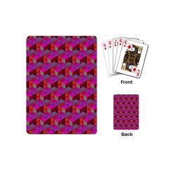 Hexagon Cube Bee Cell  Red Pattern Playing Cards (mini)  by Cveti